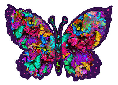 Alixandra Mullins Photograph - Morpheus Collage Butterfly by Alixandra Mullins
