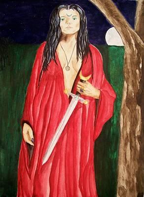 Painting - Morrigan by Carrie Viscome Skinner