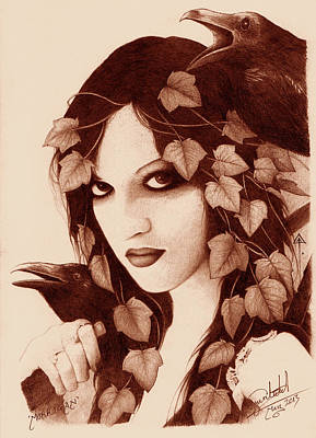Morrigan Art Print by Yuri Leitch