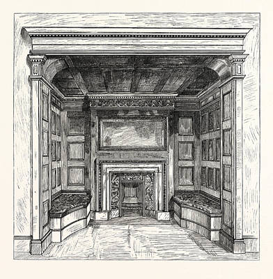 Morris And Co., Chimney Piece In The Ambassadors Room Art Print by English School