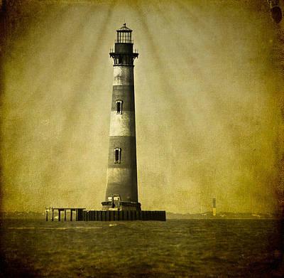 Photograph - Morris Island Light Bw Vintage by E Karl Braun