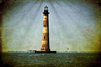 Photograph - Morris Island Light Vintage Color Uncropped by E Karl Braun