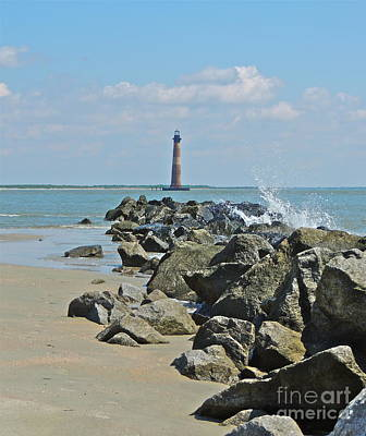 Photograph - Morris Island Lighthouse by Eve Spring