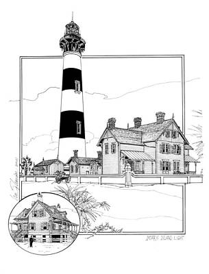 Lighthouse Drawing - Morris Island Lighthouse by Ira Shander