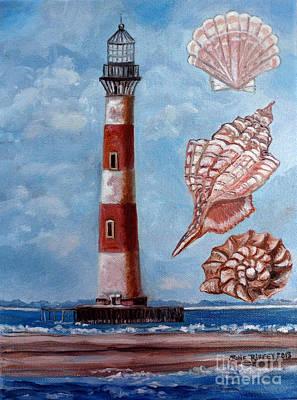 Folly Beach Painting - Morris Island Lighthouse by Julie Brugh Riffey