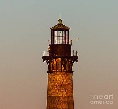 Photograph - Morris Island Lighthouse Lantern Room by Donnie Whitaker