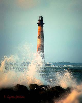 Folly Beach Painting - Morris Island Lighthouse by Lynne Jenkins