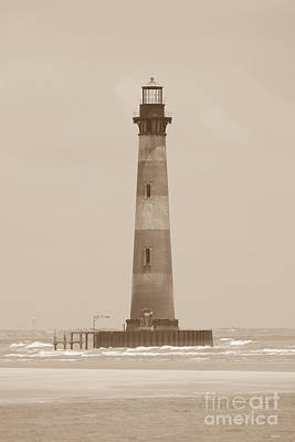 Photograph - Morris Island Lighthouse Sepia Tone by Dale Powell