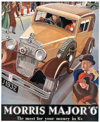 Morris Major 6 - Vintage Car Poster Art Print by World Art Prints And Designs