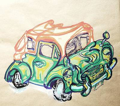 Motorcar Drawing - Morris Minor by Godfrey McDonnell