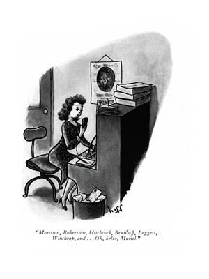 Friends Drawing - Morrison, Robertson, Hitchcock, Brusiloff by Sydney Hoff