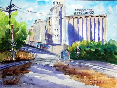 Morrisons Milling Co  Denton Tx Art Print by Ron Stephens