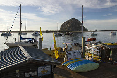 Photograph - Morro Bay - Morro Rock 2 by Jim Moss