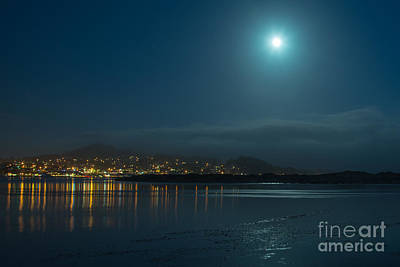 Art Print featuring the photograph Morro Bay At Night by Terry Garvin
