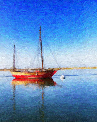 Morro Bay Blue Art Print