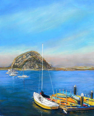 Painting - Morro Bay California by Hilda Vandergriff