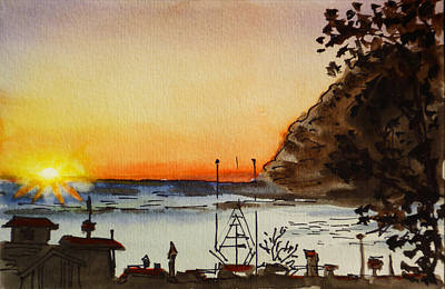 Painting - Morro Bay - California Sketchbook Project by Irina Sztukowski