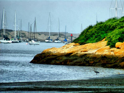Digital Art - Morro Bay by Ernie Echols