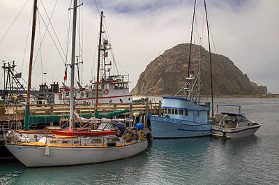 Morro Bay Marina And Rock Art Print by Donna Kennedy