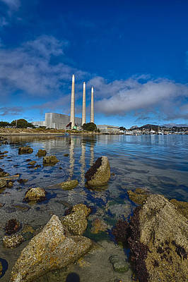 Morro Bay Rock Photograph - Morro Bay Power Plant by Scott Campbell