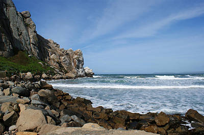 Photograph - Morro Bay Rock by Ernie Echols