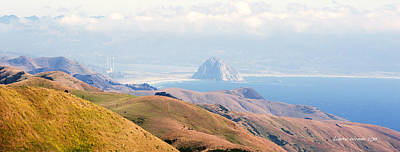 Morro Bay Rock Vista Overlooking Highway 46 Paso Robles California Art Print by Artist and Photographer Laura Wrede