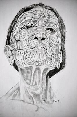 Drawing - Morro Old Woman by Glenn Calloway
