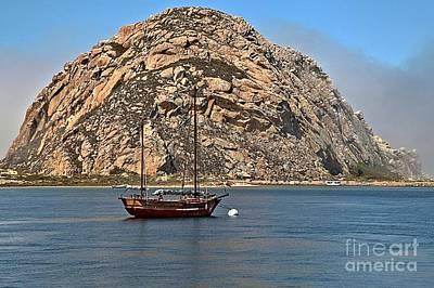 Photograph - Morro Rock Bay by Adam Jewell