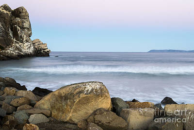 Art Print featuring the photograph Morro Rock Morning by Terry Garvin