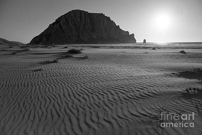 Morro Rock Silhouette Print by Terry Garvin