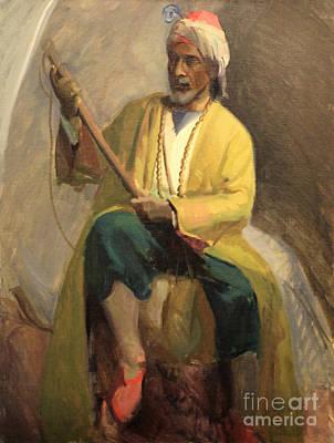 Morrocan Musician 1929 Art Print