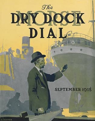 1918 Painting - Morse Dry Dock Dial by Edward Hopper