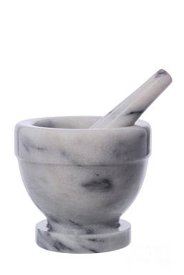 Pharmacy Photograph - Mortar And Pestle by Olivier Le Queinec
