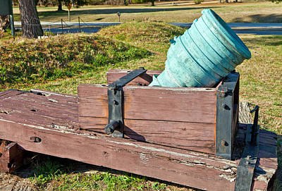 Photograph - Mortar At Yorktown by Melinda Fawver