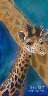 Giraffe Painting - Mortimer by Lynn Rattray