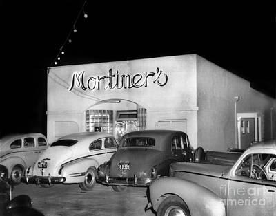 Photograph - Mortimers Dining  Dancing Marina California  Circa 1948 by California Views Mr Pat Hathaway Archives