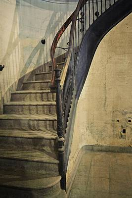 Marble Tiles Photograph - Morton Hotel Stairway by Michelle Calkins