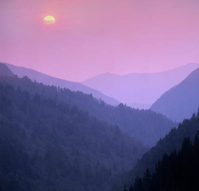 Morton Overlook, Great Smoky Mountains Art Print