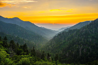 Photograph - Mortons Overlook Sunset by Anthony Heflin