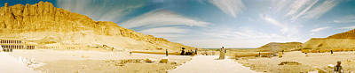 Ancient Civilization Photograph - Mortuary Temple Of Hatshepsut At Deir by Panoramic Images