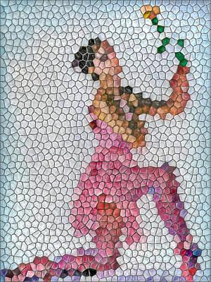 Mosaic Ballerina Art Print by Nina Bradica