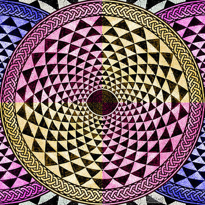 Mosaic Circle Symmetric  Art Print by Tony Rubino