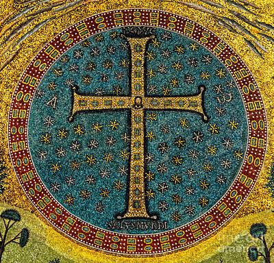 Mosaic Cross Ravenna I Art Print