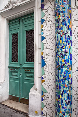 Mosaic Door In Montmartre Art Print by Georgia Fowler