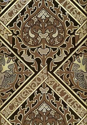 Mosaic Ecclesiastical Wallpaper Design Art Print by Augustus Welby Pugin