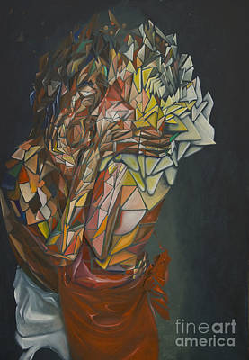 Loving Touch Painting - Mosaic Embrace by James Lavott