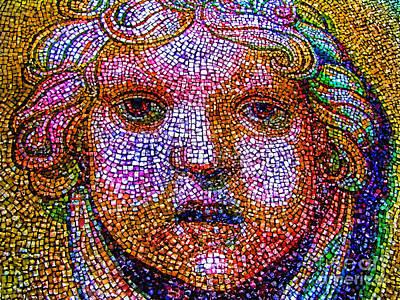 Photograph - Mosaic Face  by Daliana Pacuraru