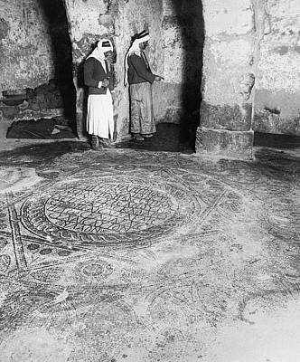 Mosaic Floor In Madaba Art Print by Underwood Archives