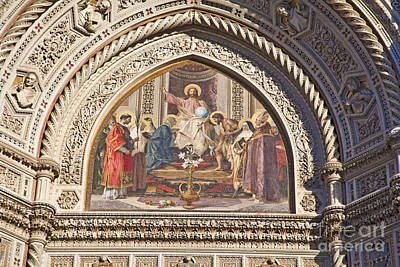 Photograph - Mosaic Florence Duomo by Liz Leyden