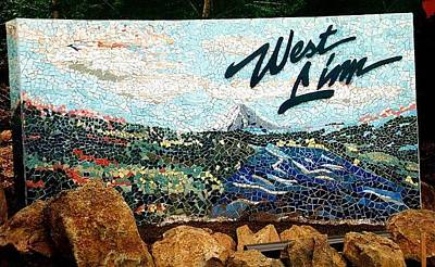 Mosaic For The City Of West Linn Oregon Art Print by Charles Lucas
